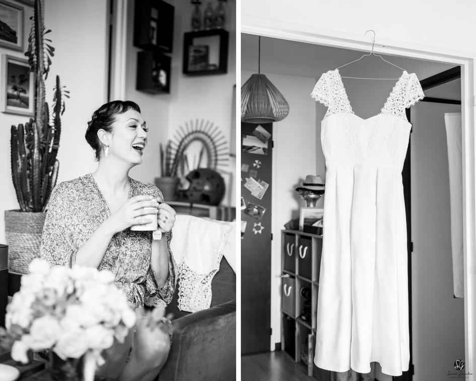 Photographe mariage Paris robe de mariée
