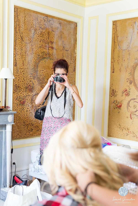 Photographe mariage Paris préparatifs mariée Manoir de Mon Père