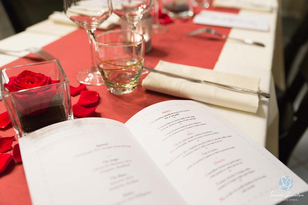 Photographe mariage Paris France cocktail vin d'honneur dîner décoration fleur menu