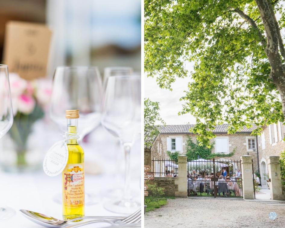Photographe mariage décoration Mas de Loisonville Grillon Provence Gard Lubéron Savoie Haute-Savoie