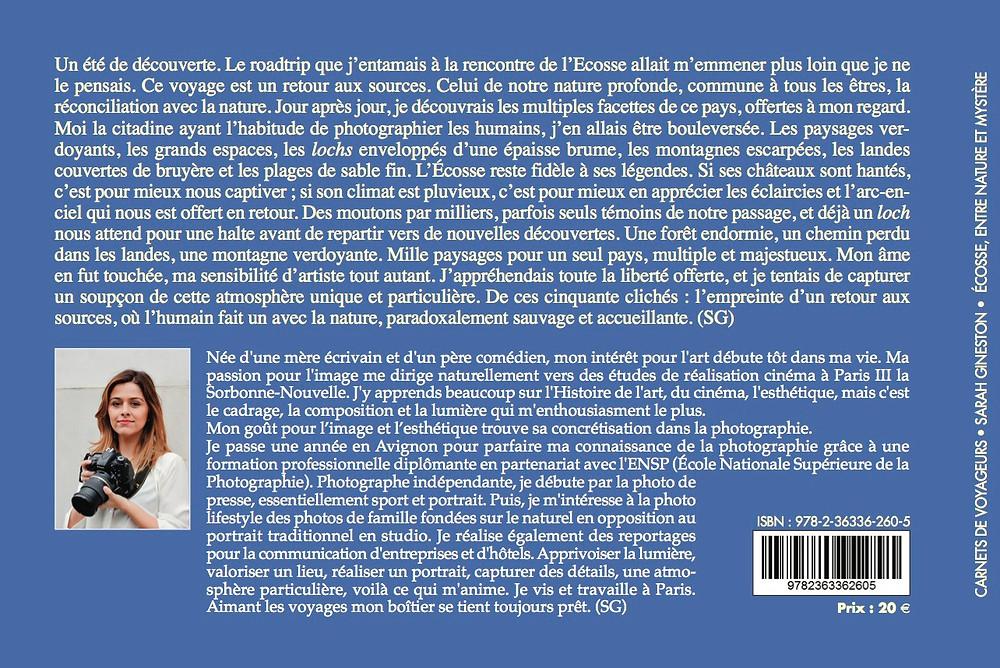 Photographe Ecosse Livre