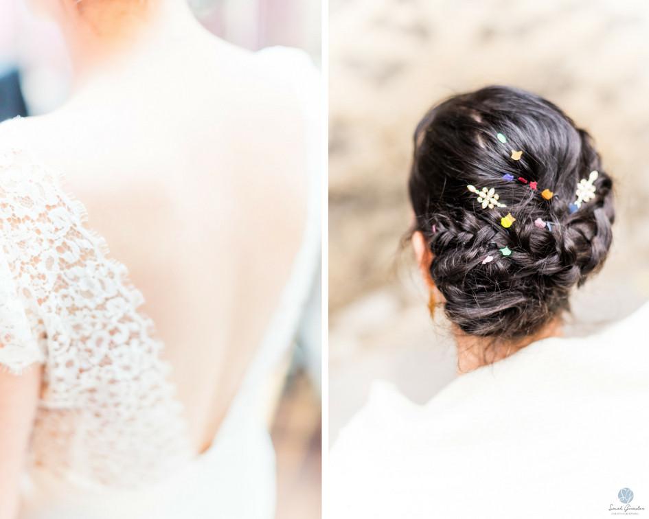 Photographe mariage Paris mariée coiffure robe