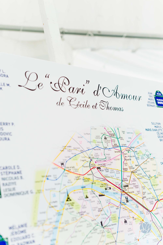 Photographe mariage Paris plan de table Manoir de Mon Père