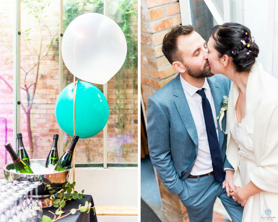Photographe mariage Paris mariés ballons espaace Vitet