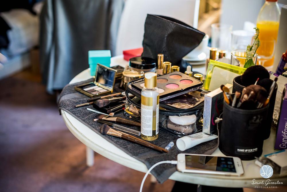Photographe mariage Paris France maquillage préparatifs mariée Hôtel Renaissance Paris Le Parc Trocadéro
