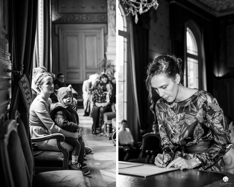 Photographe mariage Paris mairie  témoins