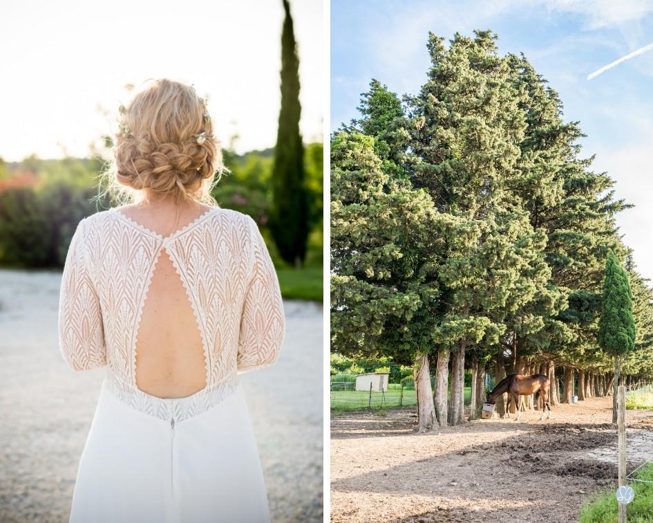 Photographe mariage mariée coiffure Mas de Loisonville Grillon Provence Gard Lubéron Savoie Haute-Savoie