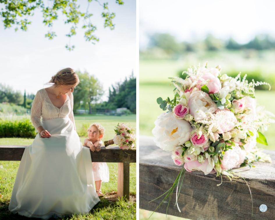 Photographe mariage Mas de Loisonville Grillon mariée fleurs Provence Gard Lubéron Savoie Haute-Savoie