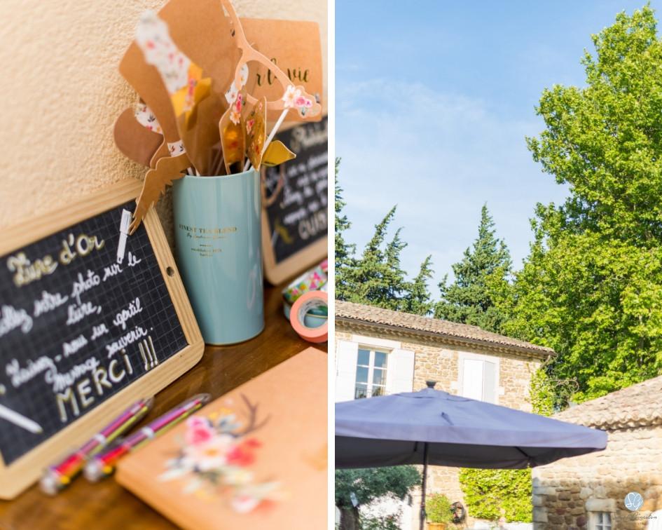 Photographe mariage Mas de Loisonville Grillon décoration vin d'honneur Provence Gard Lubéron Savoie Haute-Savoie