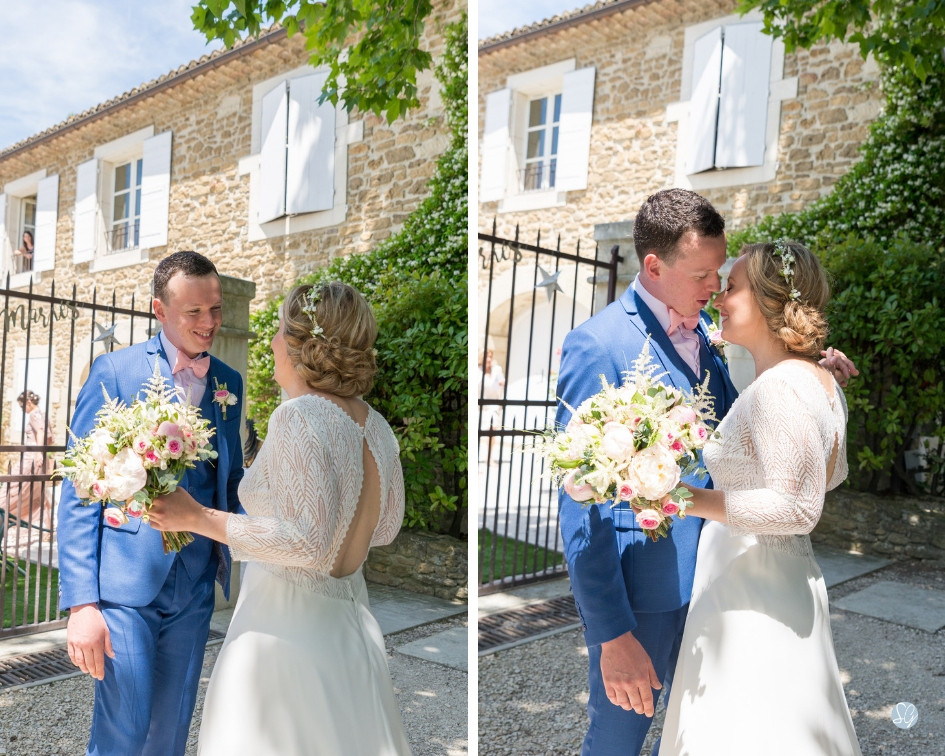Photographe mariage découverte mariés Mas de Loisonville Grillon Provence Lubéron Gard Savoie Haute-Savoie