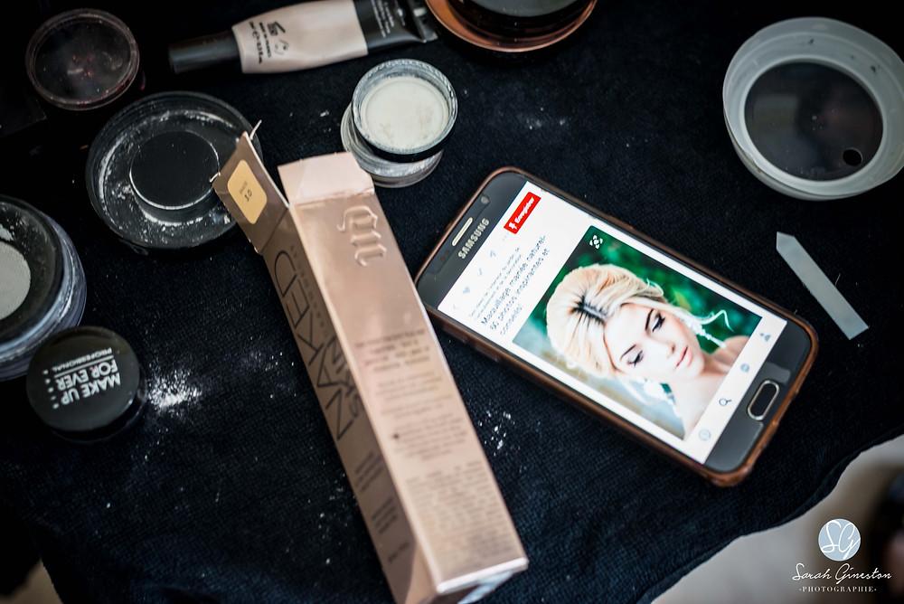 Photographe mariage Paris préparatifs maquillage coiffure mariée Manoir de Mon Père