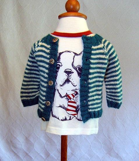 Newborn Striped Sweater (Doggie T-Shirt Included)