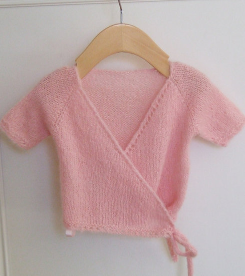 0-3 Months Baby Girl Ballet Wrap Sweater