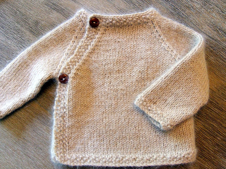 Newborn Alpaca Wrap Sweater
