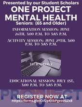 Seniors Mental Health Flyer