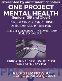 Seniors Mental Health Flyer