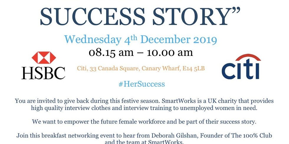 """""""Be Part of Her Success Story"""""""