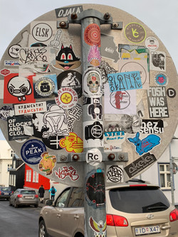 ICELAND Sticker Bombs