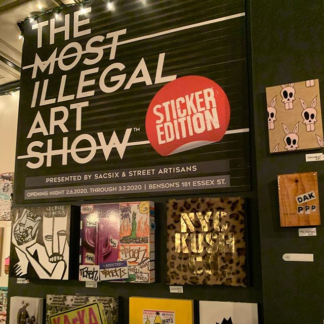 The Most Illegal Art Show 💥💥@bensonsny