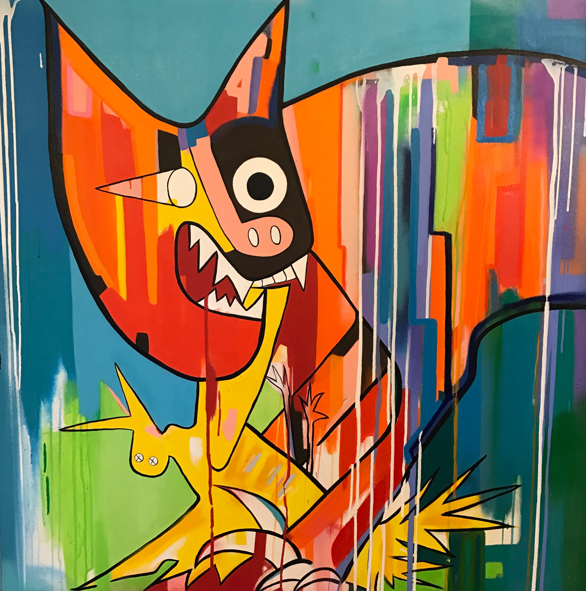 Cat Devouring Bird