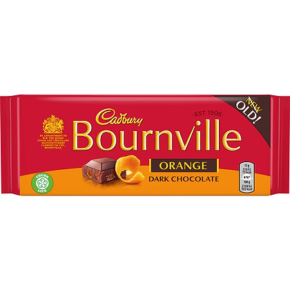 Cadbury Bournville Orange 100G **BEST BEFORE 29/01/21
