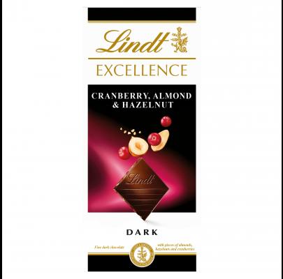 Lindt Excellence Cranberry, Almond & Hazelnut 100g
