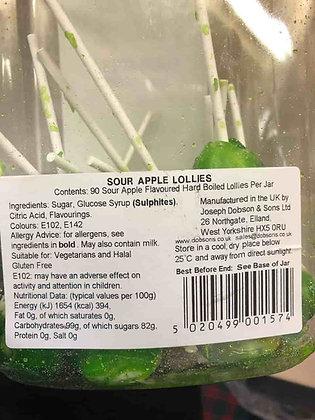 Sour Apple Mega Lollies (Joseph Dobson)