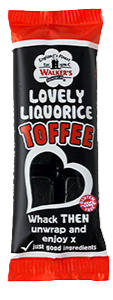 Walker's Nonsuch Liquorice Toffee Bar 50g