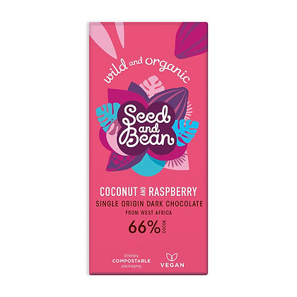 Seed & Bean Coconut & Raspberry Dark 85g