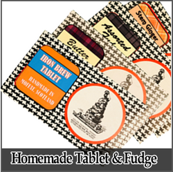 homemade tablet and fudge