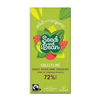 Seed & Bean Chilli & Lime Dark 85g