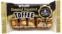 Walker's Nonsuch Roasted Hazelnut Toffee Bar 100g