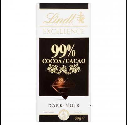Lindt Excellence Dark 99% 50g