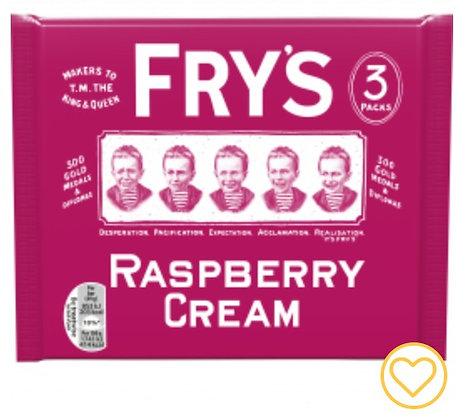 Fry's Raspberry Cream Chocolate Bars 3 Pack **BEST BEFORE 31ST MAY 2021**
