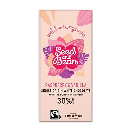 Seed & Bean Raspberry & Vanilla White 85g