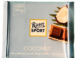 Ritter Sport Coconut 100G **BEST BEFORE 25TH APRIL**