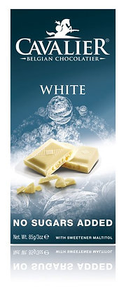 Cavalier White Chocolate No Added Sugar Bar 85g**BEST BEFORE 15TH APRIL  2021**