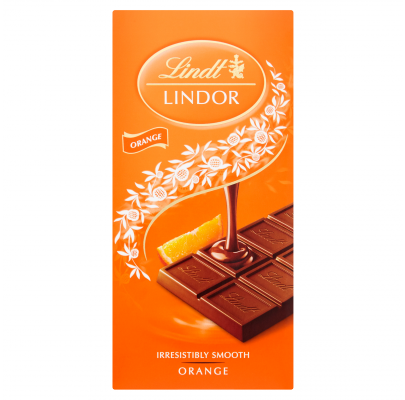 Lindt Lindor Orange Milk 100g
