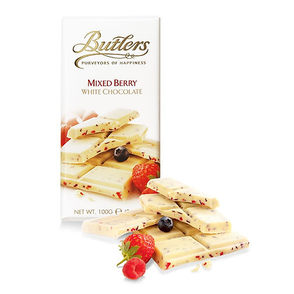 Butlers Mixed Berry White Chocolate Bar 100g
