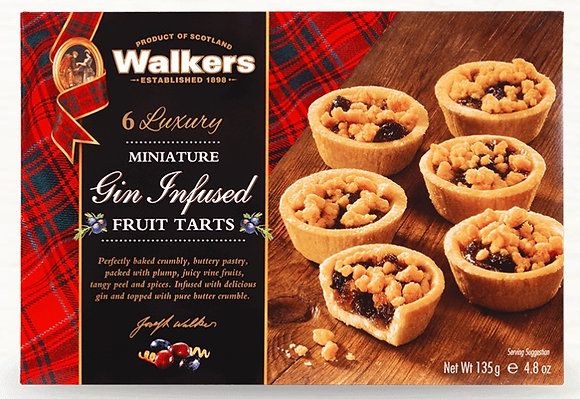 Walkers Miniature Gin Infused Fruit Tarts 135g**BEST BEFORE 30TH APRIL 2021**