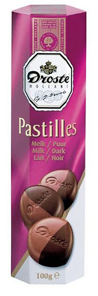 Droste Pastilles Milk / Dark Chocolate 100g