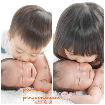 ニューボーンフォト│お兄ちゃんお姉ちゃんと撮影│さいたま市浦和新生児フォト