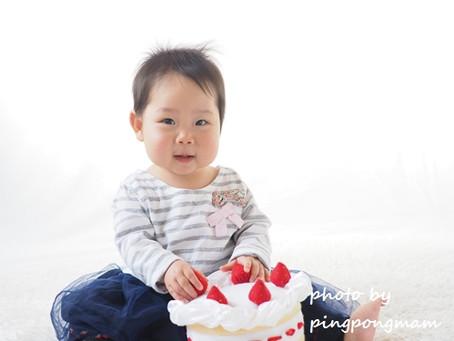 1歳バースデイ☆産まれてから1年のママとベビー
