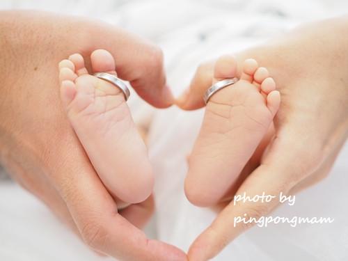 生後22日の赤ちゃんのあんよ│ニューボーンフォト
