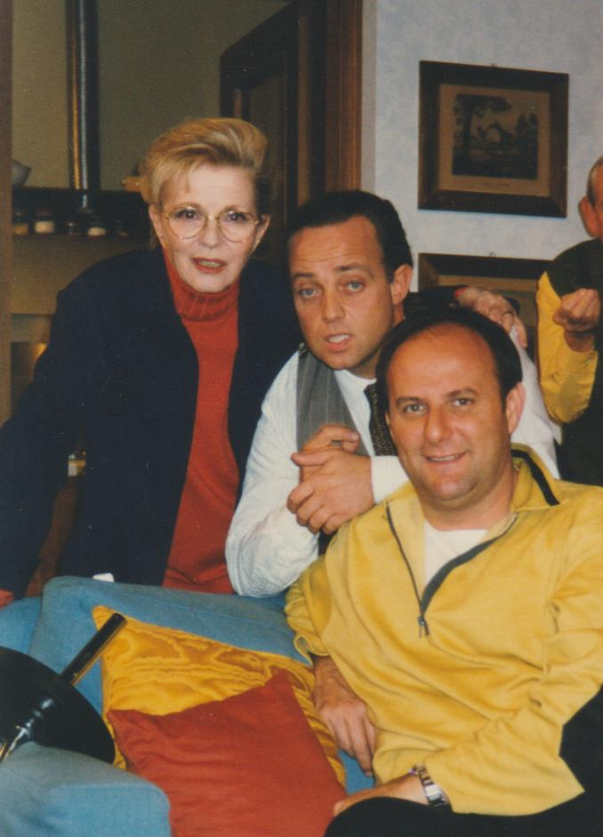 Ghislandi con Jerry Scotti e Delia Scala