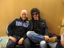 Ghislandi con Gino Vannelli
