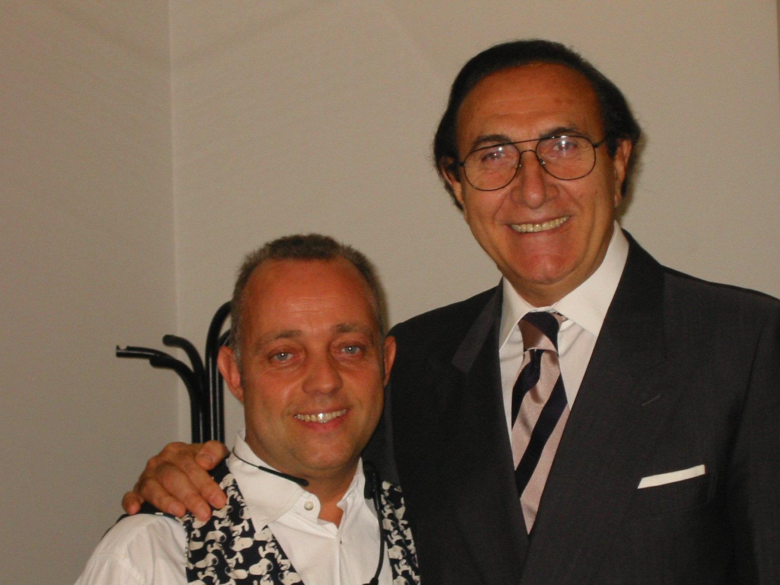 Ghislandi con Pippo Baudo