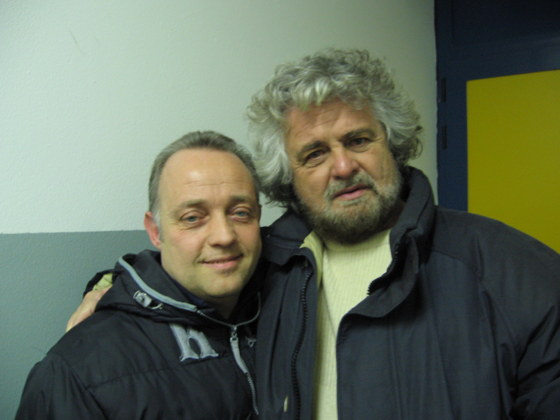 Ghislandi con Beppe Grillo