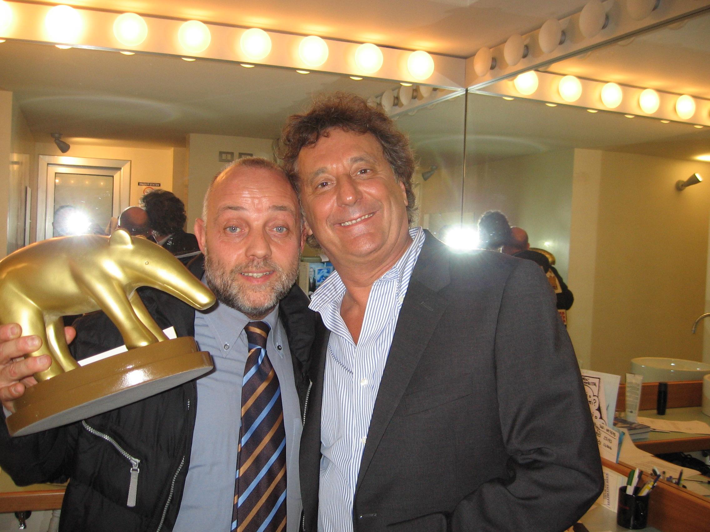 Ghislandi con Enzo Iacchetti