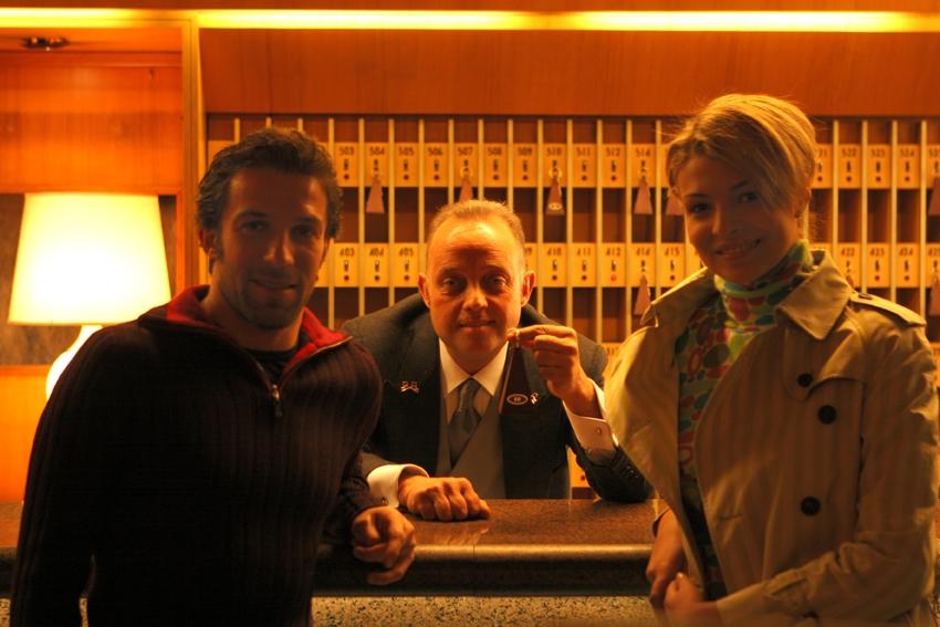 Ghislandi con Cristina Chiabotto ed Alex Del Piero
